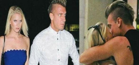 Maxi López con su novia la modelo sueca Daniela