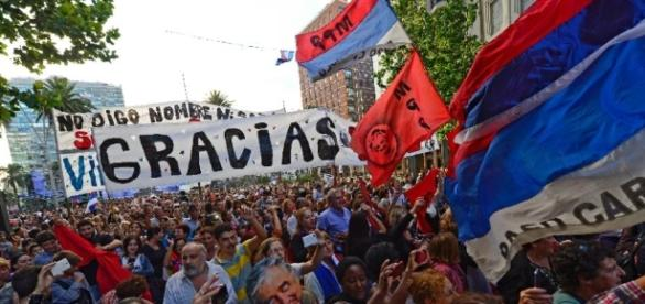 Election de Vazquez a la presidence de l'Uruguay