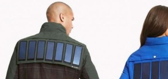 Las chaquetas con paneles solares