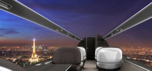 Viagens de avião podem ganhar um visual panorâmico