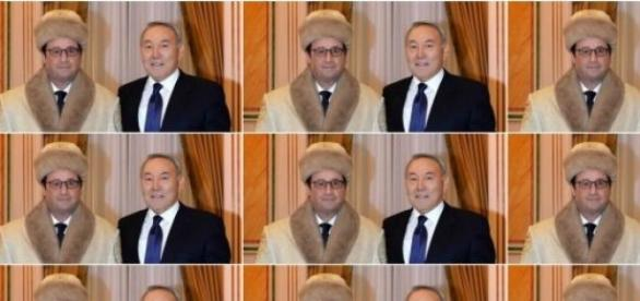 Hollande, la chapka et Nazarbaiev