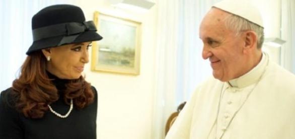 Francisco en su reunión con CFK