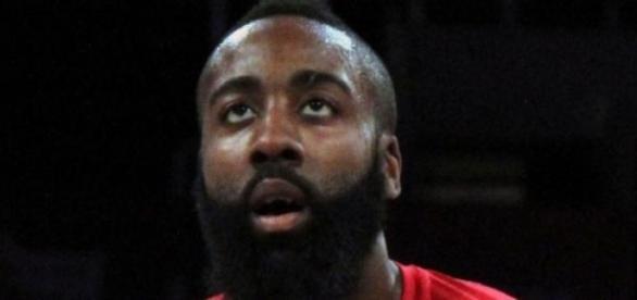 """James """"La barba"""" Harden, jugador de los Rockets"""