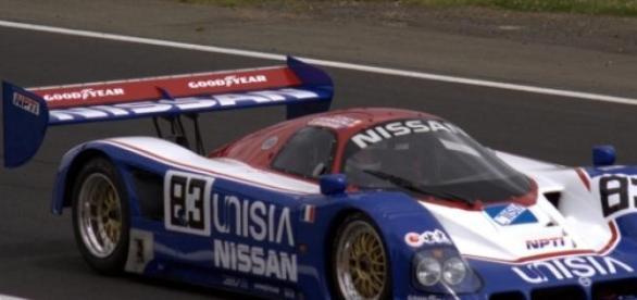 Un Nissan participante en Le Mans.