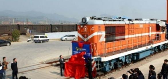 El primer tren comercial de China a España
