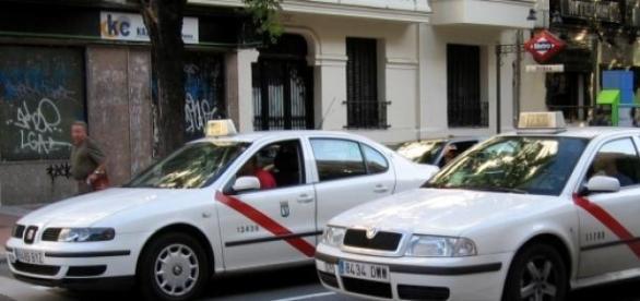 Taxis en las calles de Madrid