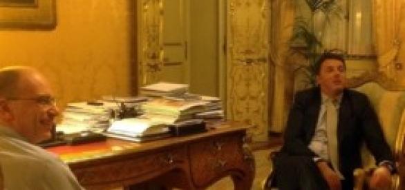Governo, Renzi a Palazzo Chigi con Letta