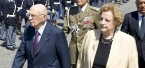 Presidente G. Napolitano e ministro A. Cancellieri