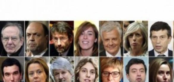 I ministri dell'esecutivo di Renzi.