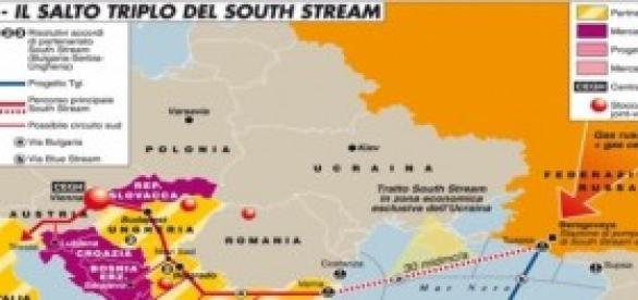 Nella mappa i gasdotti contesi tra Russia e Europa