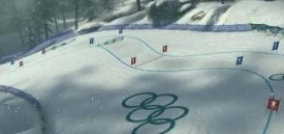 Una delle piste delle Olimpiadi invernali