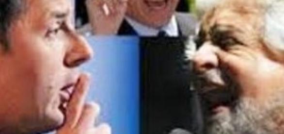 Renzi, Grillo e Berlusconi
