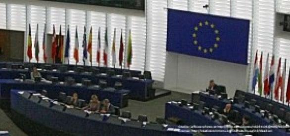 The European Union parliament in Bruxelles