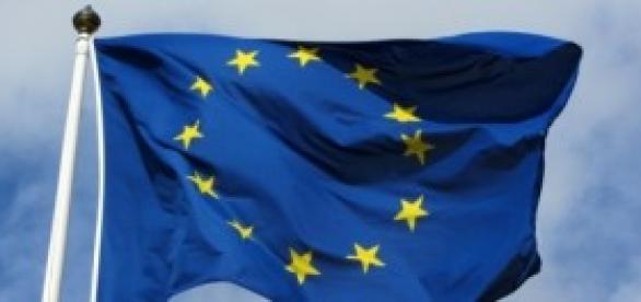 Bruxelles - La bandera de la Uniòn Europea