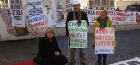 Amnistia e indulto, protesta Radicali