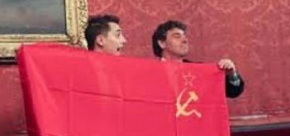 La protesta della Lega Nord in Consiglio Comunale
