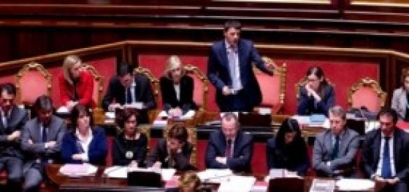 Indulto e amnistia 2014, Governo Renzi al Senato