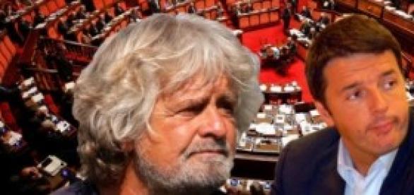 Beppe Grillo si avvicina a Renzi e al PD