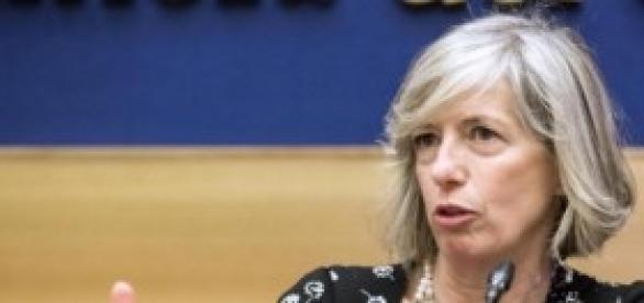 La ministra dell'Istruzione, Stefania Giannini