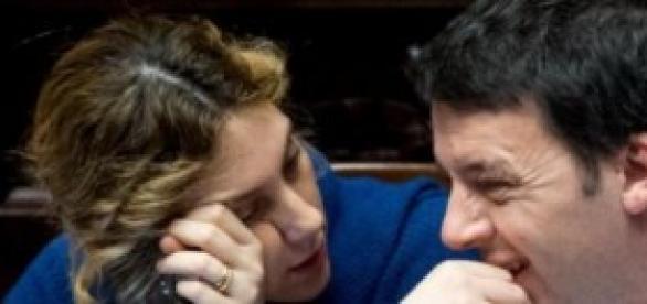 Maria Anna Madia e Matteo Renzi