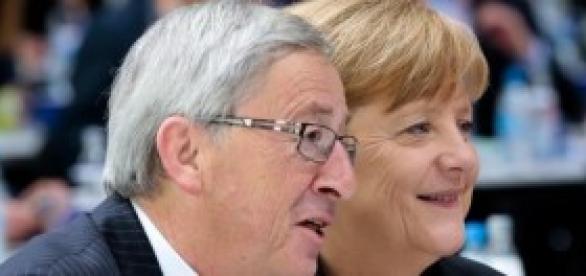 Jean-Claude Juncker e Angela Merkel