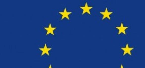 La bandiera dell'Unione Europea.