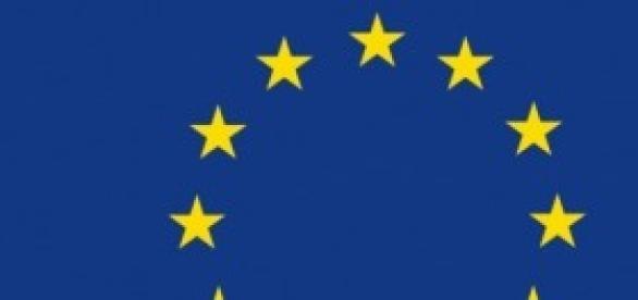 La bandiera dell'Unione Europea.