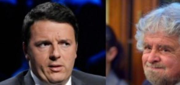 Grillo - Renzi: scontro negli ultimi sondaggi