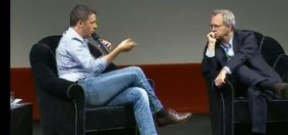 Renzi intervistato da Mentana a Trento