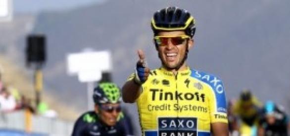 Alberto Contador en el Tirreno Adriático