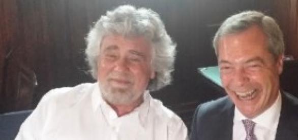 Beppe Grillo e Nigel Farage alleati in Europa