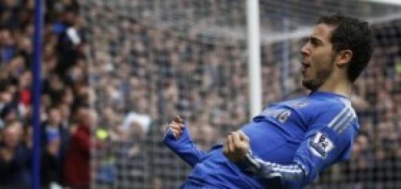 Hazard tras marcar un gol (mundodeportivo)