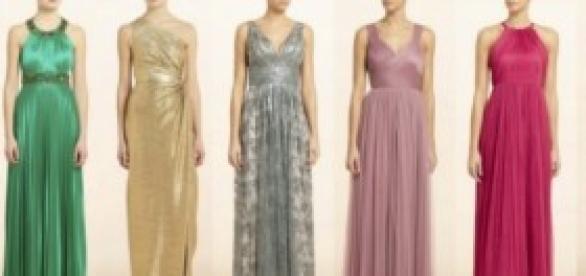 vestidos largos en diferentes telas