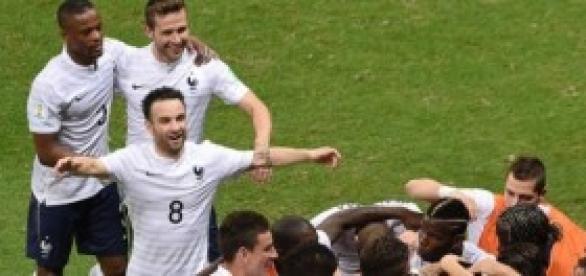 Francia celebrando un gol. Foto: infobae.com