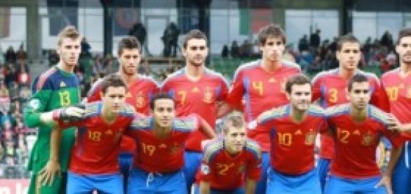 Selección Española Sub21 hace tres años.