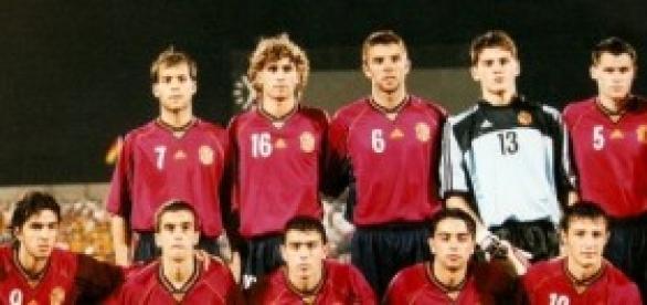 La selección en un partido del Mundial Sub-20