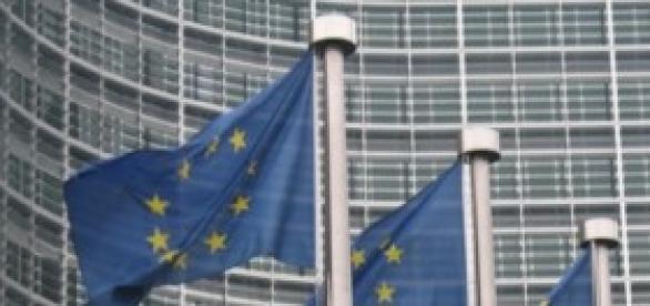European Union flags in Bruxelles, Belgium
