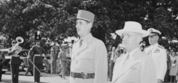 Presidente Truman y presidente Charles de Gaulle