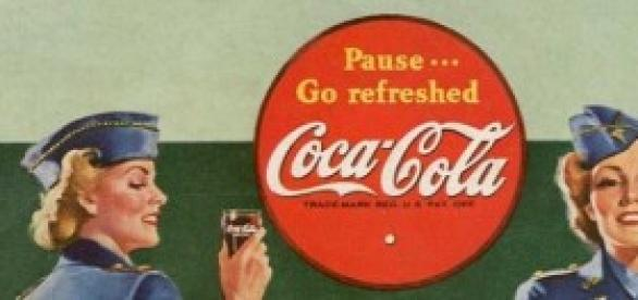 Cartel publicitario de Coca-Cola, 1942.