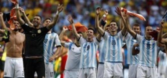 Argentina celebra su pase a la final.