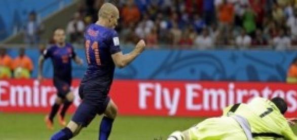 La estrella holandesa en una de sus jugadas.