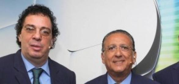 Copa 2014 da Globo: Galvão, Casagrande e Ronaldo.
