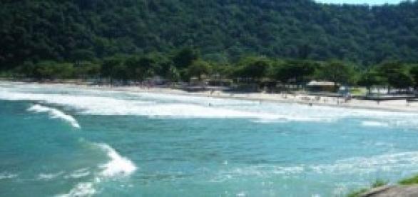 Foto da Praia do Guarujá.