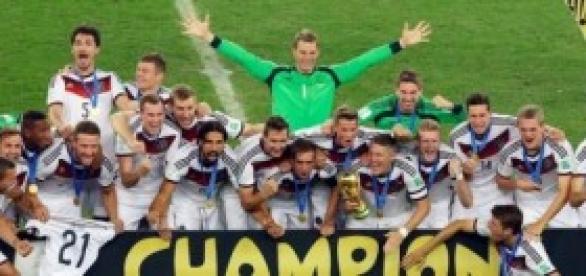 Germany celebrate winning World Cup