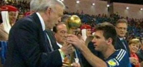 Lionel Messi mejor jugador del mundial