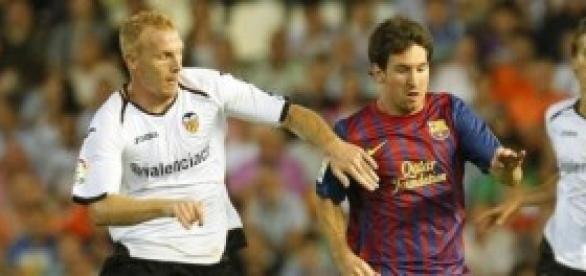 Mathieu en un partido frente al FC Barcelona