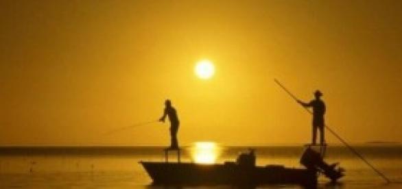 Pescadores nos rios da Amazônia