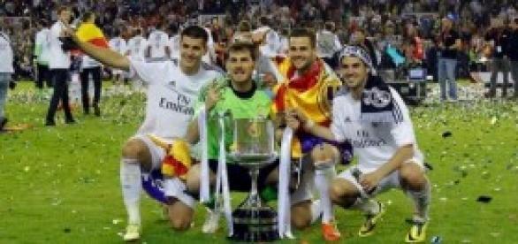 """Casillas, Carvajal, Isco y Morata con """"la decima"""""""