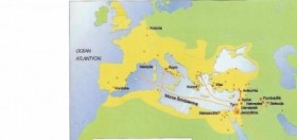 Zasięg imperium rzymskiego około roku 200 n.e.