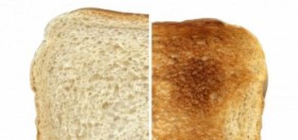 El pan y las tostadas tienen las mismas calorías.